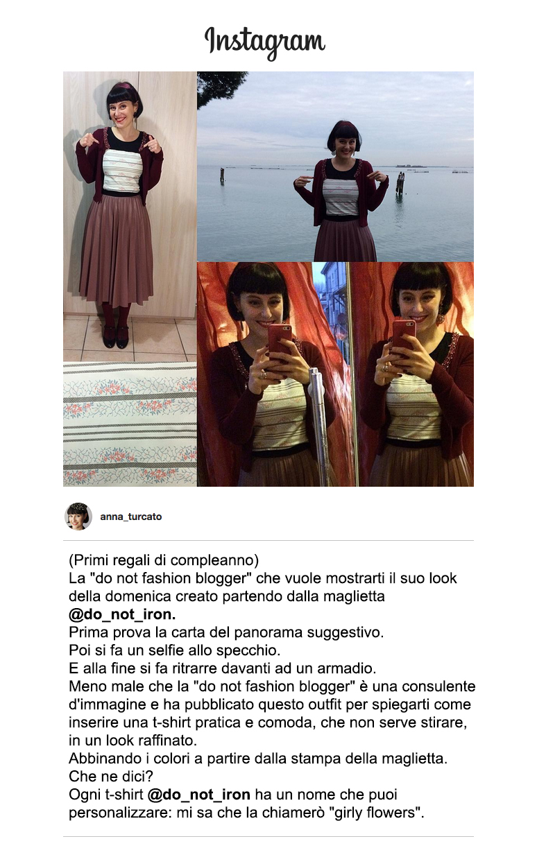 Anna Turcato instagram DO NOT IRON