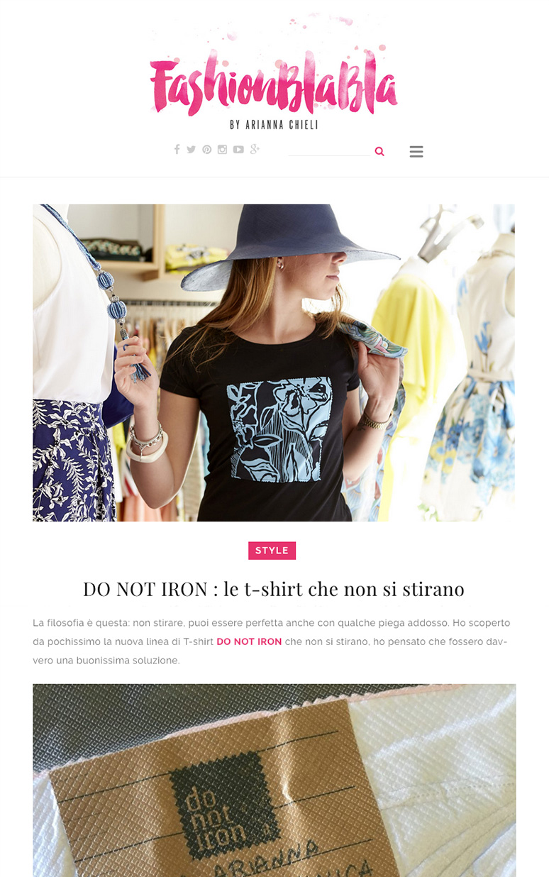 do not iron Fashion Bla Bla non stirare