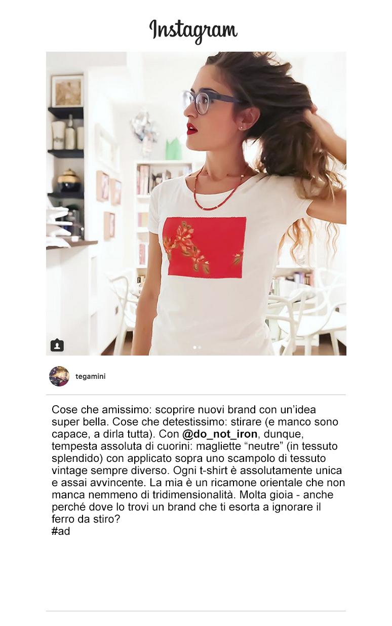 tegamini instagram do not iron